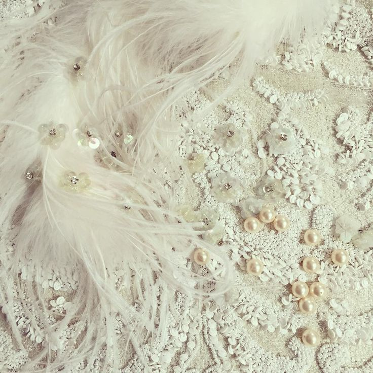 Your dream wedding dress starts here #parlorstudio #lace #embroideries #pearls #feathers #cristals #precious #handmade #design #romaniandesigners #demicouture #love #details