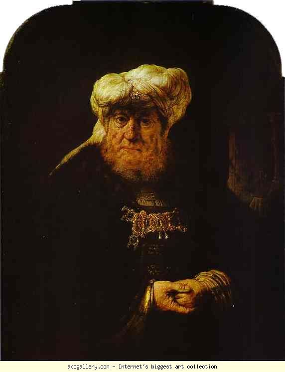Rembrandt. The King Uzziah Stricken  with Leprosy. Olga's Gallery.