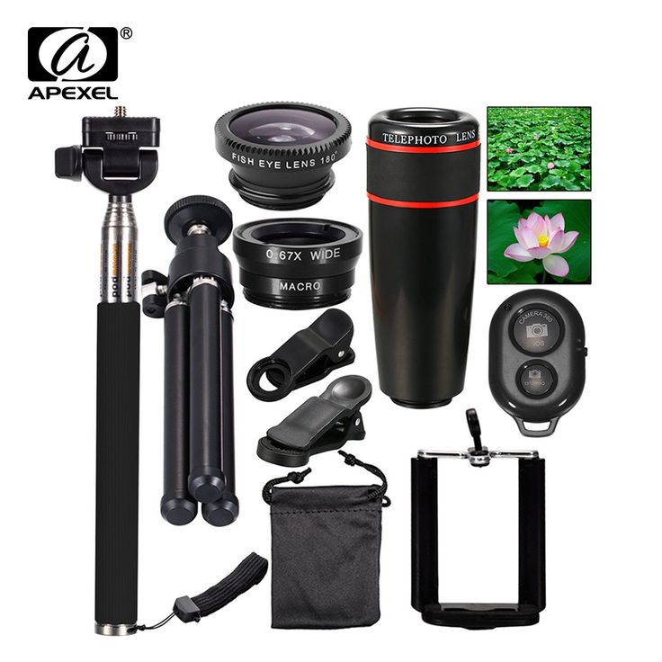 10in1 Phone Camera Lens 12x Lenses Fish Eye Fisheye Lentes Wide Macro Lenses Selfie Stick Monopod Tripod for Xiaomi iPhone Lens //Price: $20.92//     #onlineshop