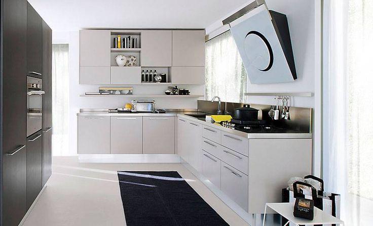 #Cucine #Lube: modelli ad anta liscia con maniglia. #Arredamente #casa #salerno #design www.magic-house.it