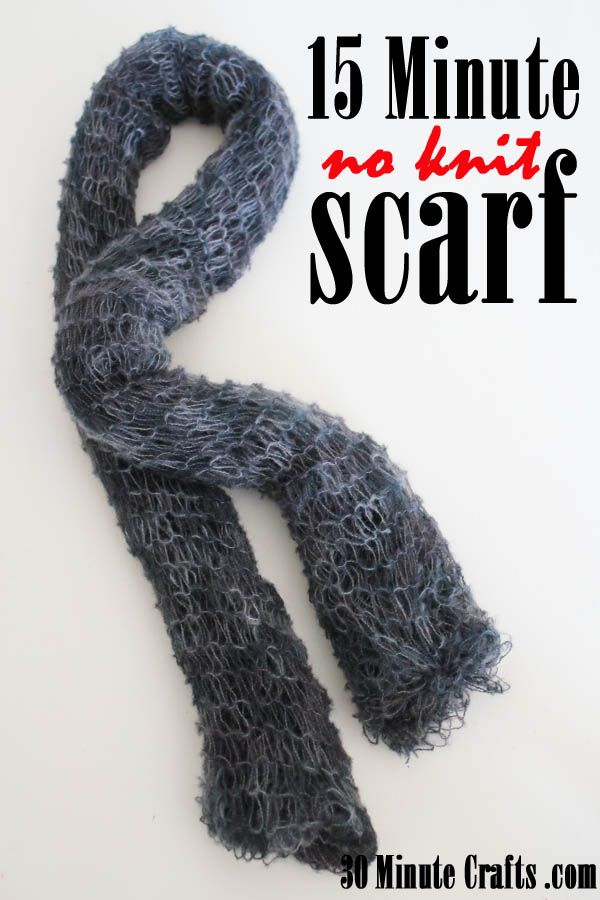 15 Minute No Knit Scarf