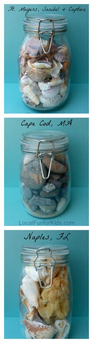 Seashell Vacation Memory Jars