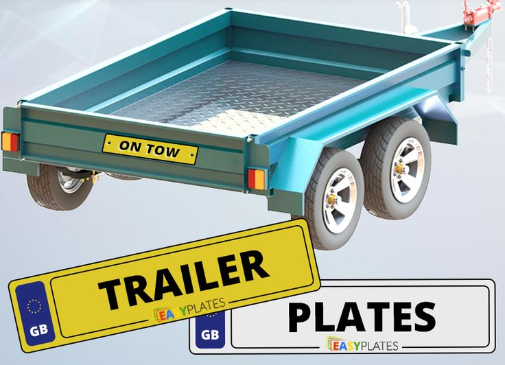 Create your Trailer number plates online. Upload your own images, borders and side badges. Customize your car number plate to meet your needs.