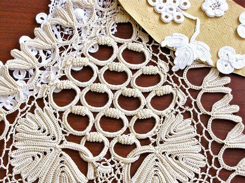 Irish Crochet Variations | Contrast of an unusual Irish croc… | Flickr