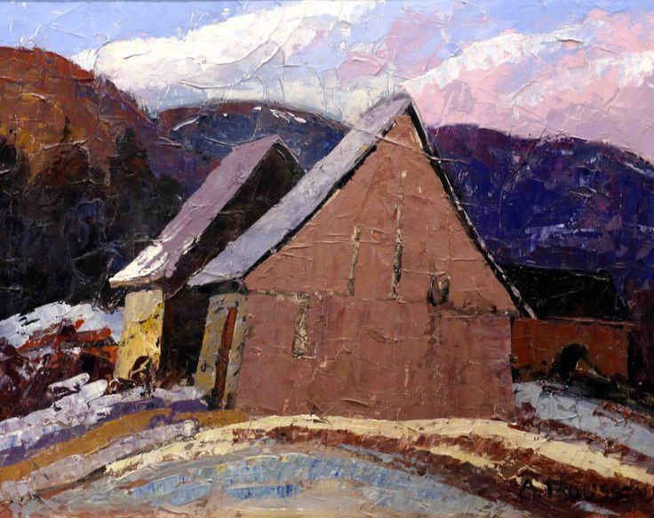 """Albert Rousseau. Untitled. Oil on Board. 30x24""""."""