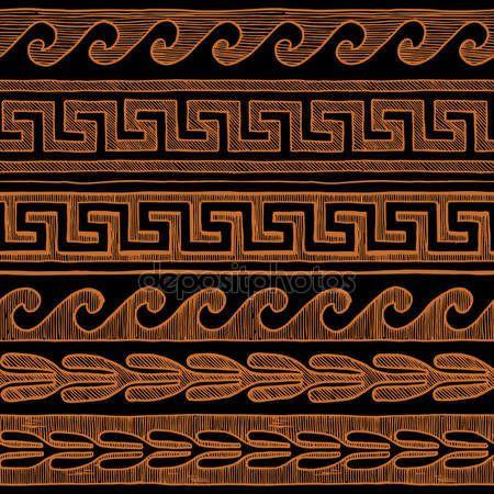 Meandro ed onda greco — Illustrazione stock #145391349