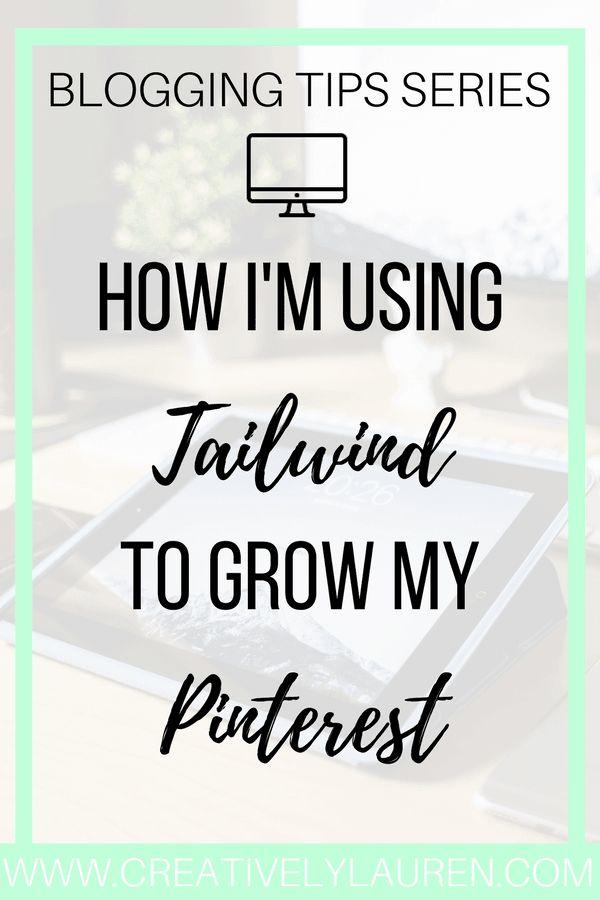 How I'm growing my Pinterest account with @tailwindapp #pinterestmarketing #pinteresttools