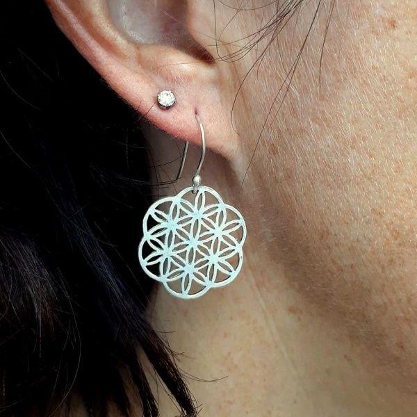 Sterling Silver Flower of Life Earrings: R380.00