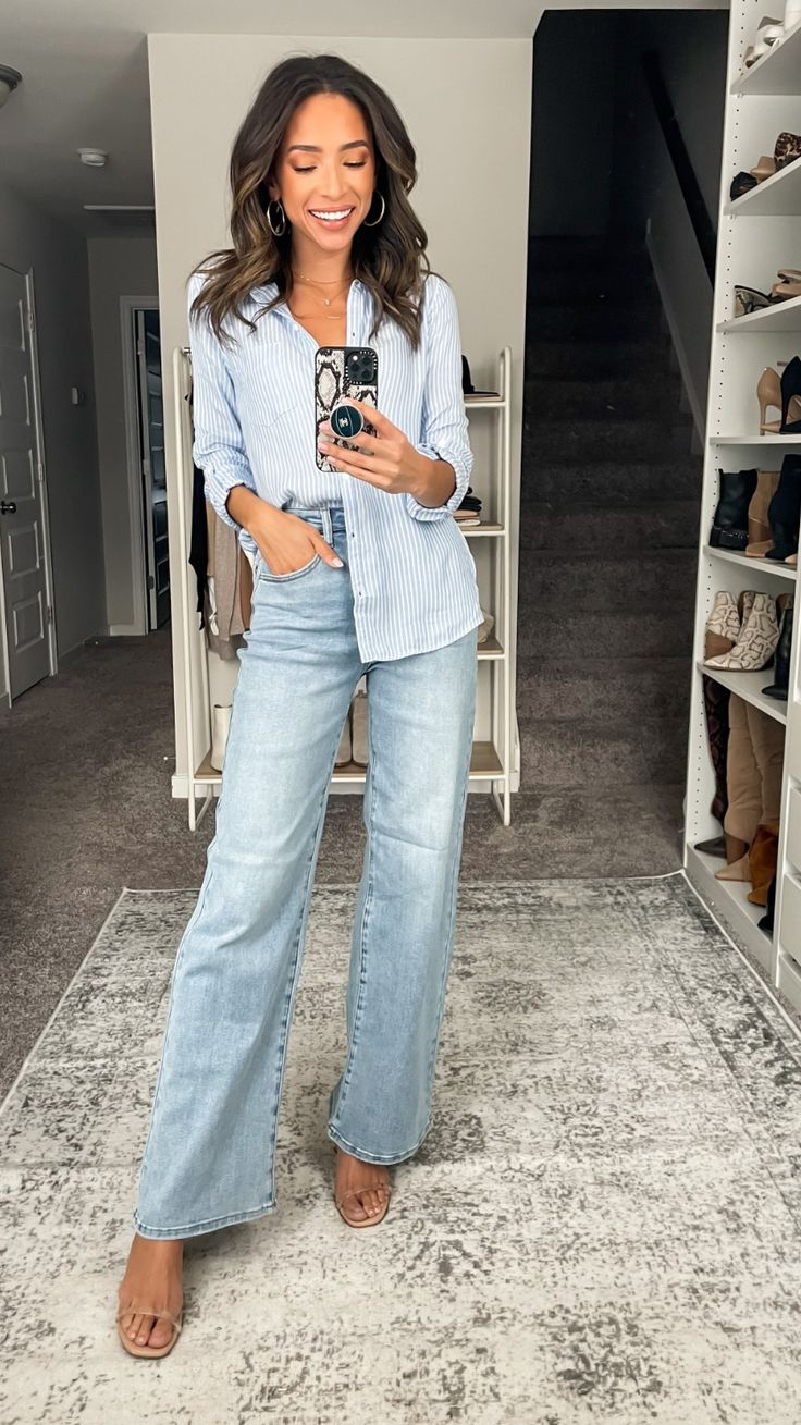 Casual Work Outfits, Work Casual, Jean Outfits, Cool Outfits, Trendy Fashion, Fashion Looks, Women's Fashion, Fashion Outfits, Fashion Tips