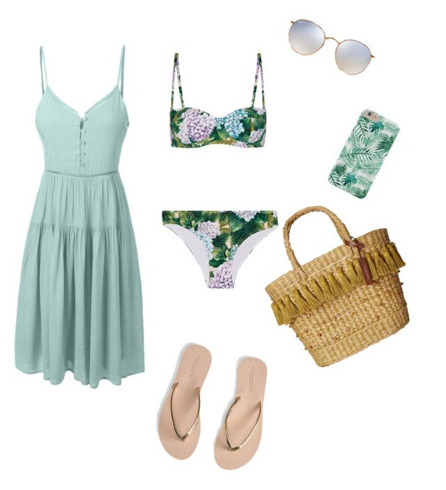 """""""Green day"""" by mariamshelby on Polyvore featuring moda, Dolce&Gabbana, LE3NO, Aéropostale, White Stuff y Ray-Ban"""