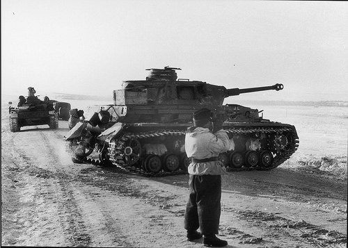 German Pz.IV.H tanks fought alongside the Hungarian troops…