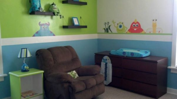 Monsters+Inc+Bedroom+Decor | they have stickers like this on Ebay.....