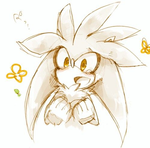 Silver the hedgehog looking cute!
