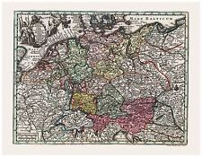 Vintage Map of Holy Roman Empire Seutter 1744