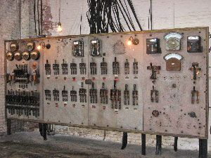 Main switchboard in the Biltmore house electrical room (photo courtesy of the Biltmore Estate Archive).