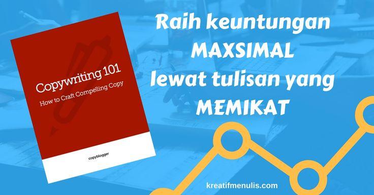 Download buku Copywriter 101 untuk membantu tulisan-tulisan pemasaran perusahaan anda lebih memikat banyak calon pembeli.