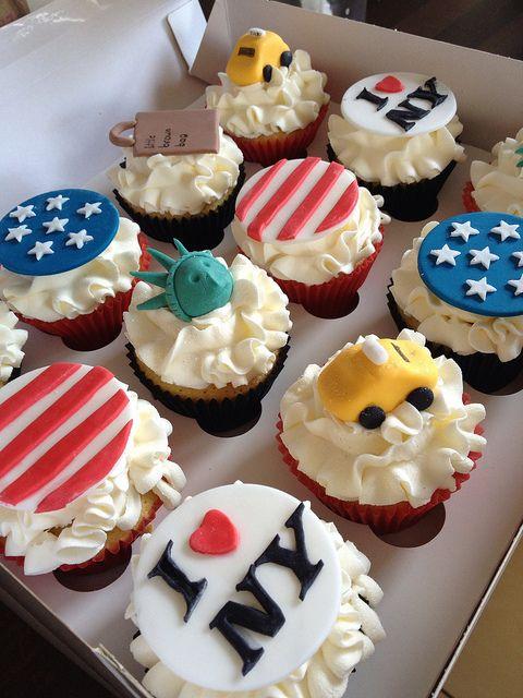 I Love New York Icon Cupcakes