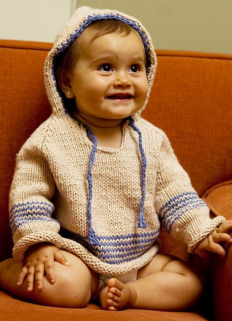 Baby Hoodie by knitculture.com - free