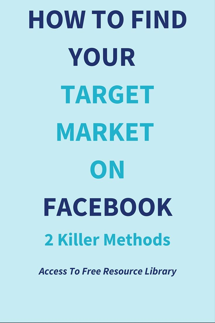 How To Find Your Target Audience On Facebook? 2 Killer Methods  It is very important that you know who your audience are before you start using Facebook for business.  This post will show you exactly how to do that. Click through to read full post>>>