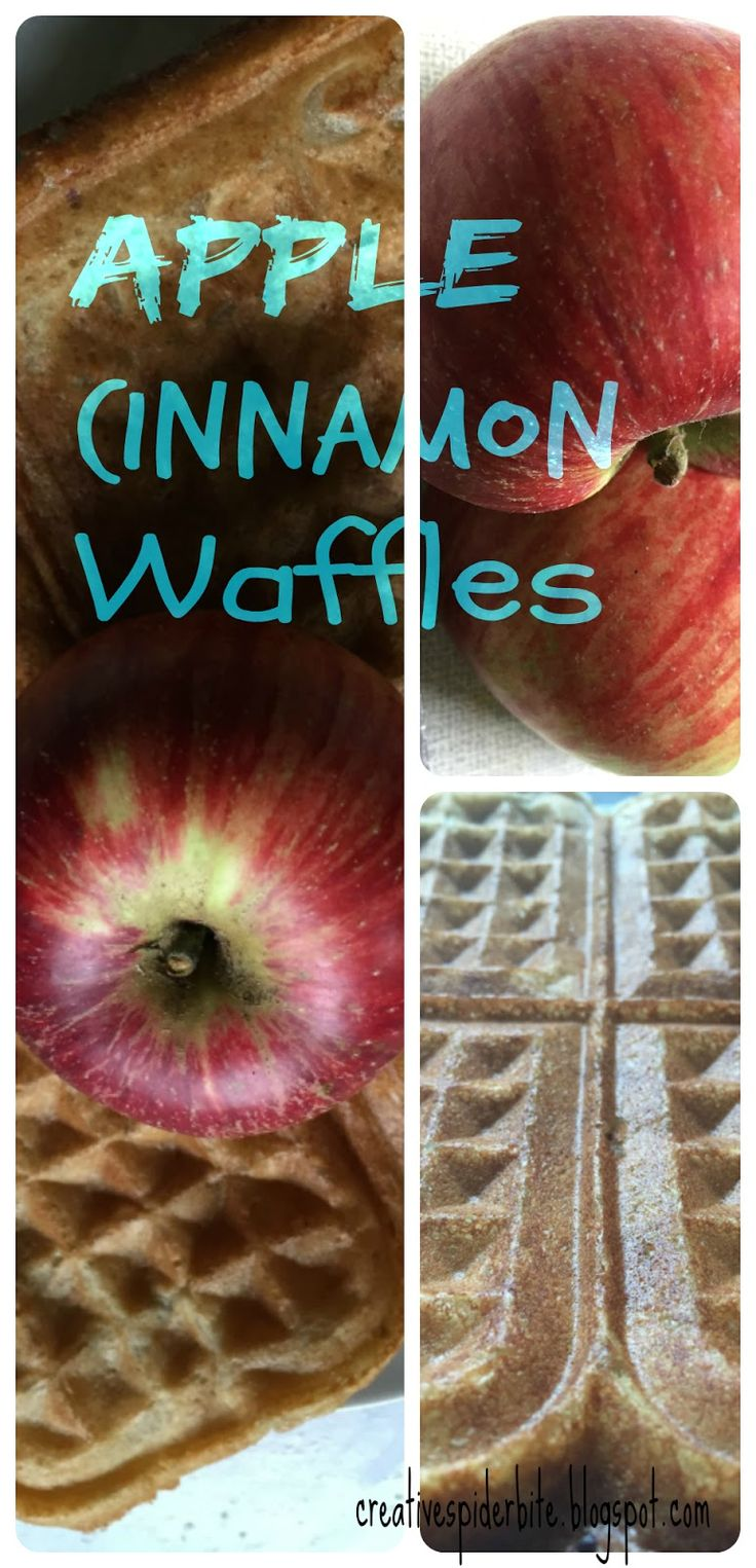 Bitten by that creative Spider: Another Waffle experiment - Apple Cinnamon Waffles