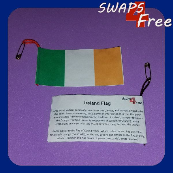 Ireland Flag Facts Girl Scout Swaps For World Thinking Day Free Printable World Thinking Day Girl Scouts Ireland