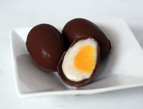 Homemade Cadbury Cream Eggs. gotta try this