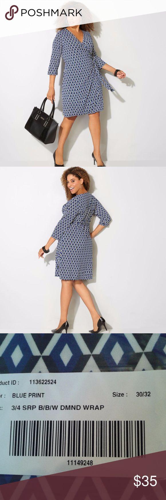 Wal g wrap detail dress with metallic stripe in blue navy lyst - Avenue Diamond Geo Wrap Dress Sz 30 32 New Boutique