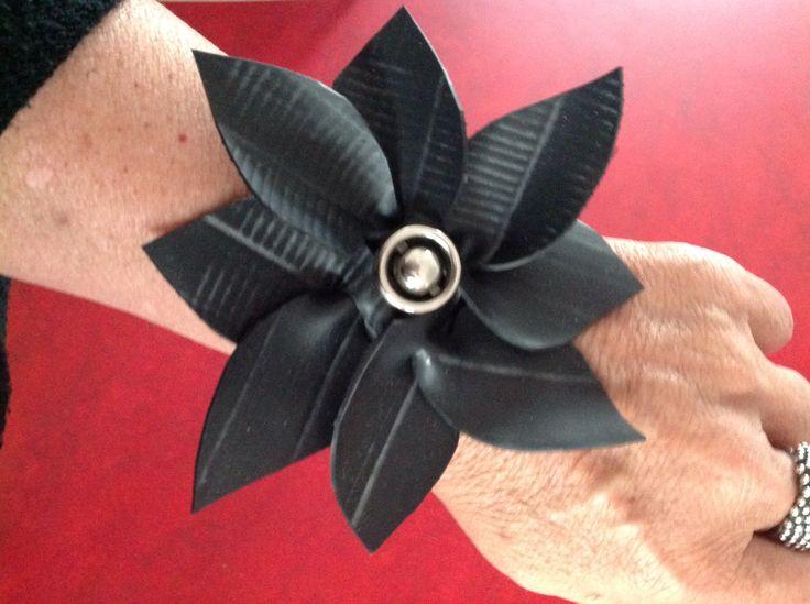 Rubber flower bracelet