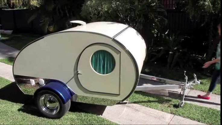 Gidget Retro Teardrop Camper She's retro and cute, Australian custom designed and owned but there's so much more to Gidget... • custom slide-out, patent pend...