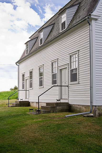 The Meeting House at Sabbathday Lake Shaker Village. The only living Shaker Community, Maine.