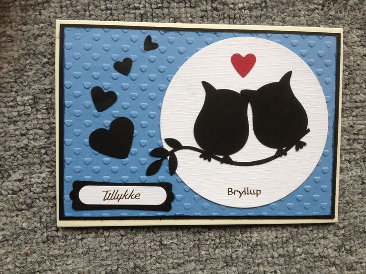 Punch owl builder stampin up Weddingcard