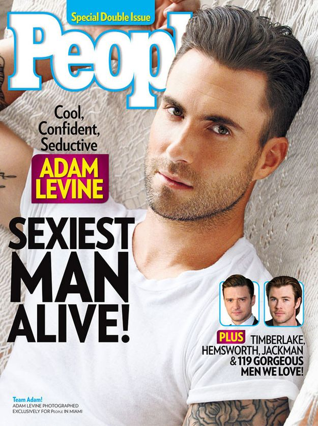 """<b>After 28 years, People Magazine wised up and named Adam Levine this year's """"Sexiest Man Alive.""""</b> Here's all the evidence you need..."""