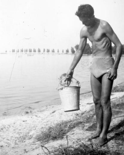 Balaton, Hungary, 1950's.