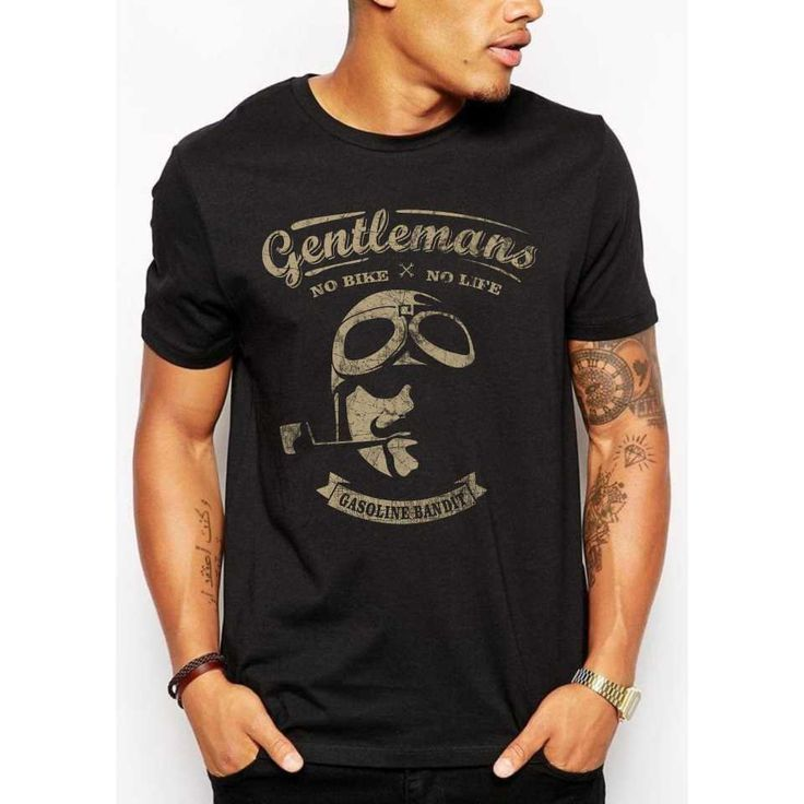Design #85 by Punisher!!! | +++ Old fashioned Gentlemen-Biker T-Shirt - Create a cool vintage retro design+++