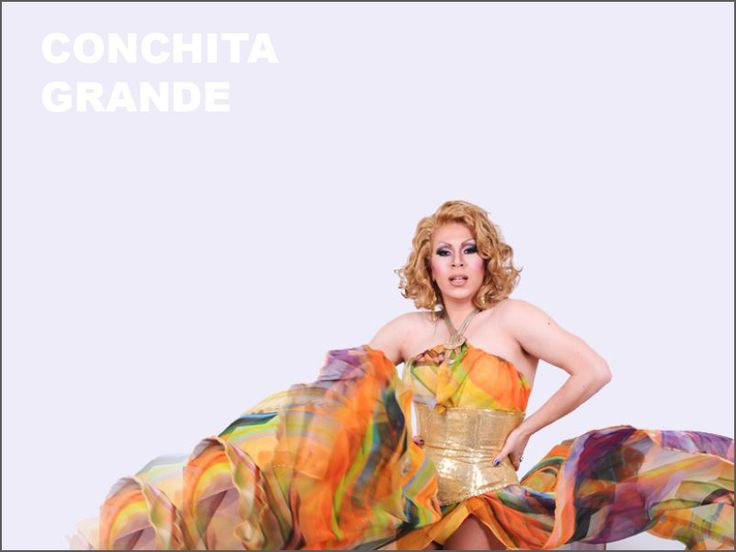 Conchita Grande is one of Sydney's most sought after gender-bending miming drag queens. They don't get any fishier than her! She's a multi-talented performer, hostess, drag queen & showgirl. #Drag #GayWedding
