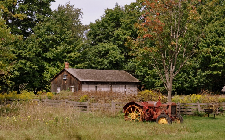 The farm at Bronte Creek Provincial Park, Burlington, Ontario - a great place for hikes and exploring nature, just about an hour's drive west of downtown Toronto.