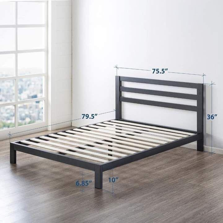 Bronx Ivy Harriett Heavy Duty Metal Platform Bed Frame Camas
