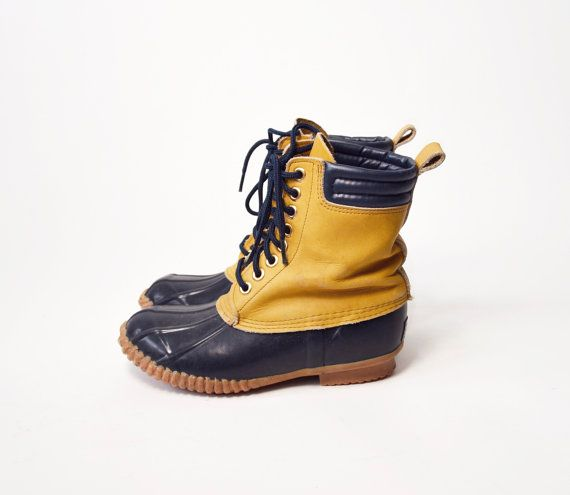 time to find a puddle!  Vintage Duck Boots