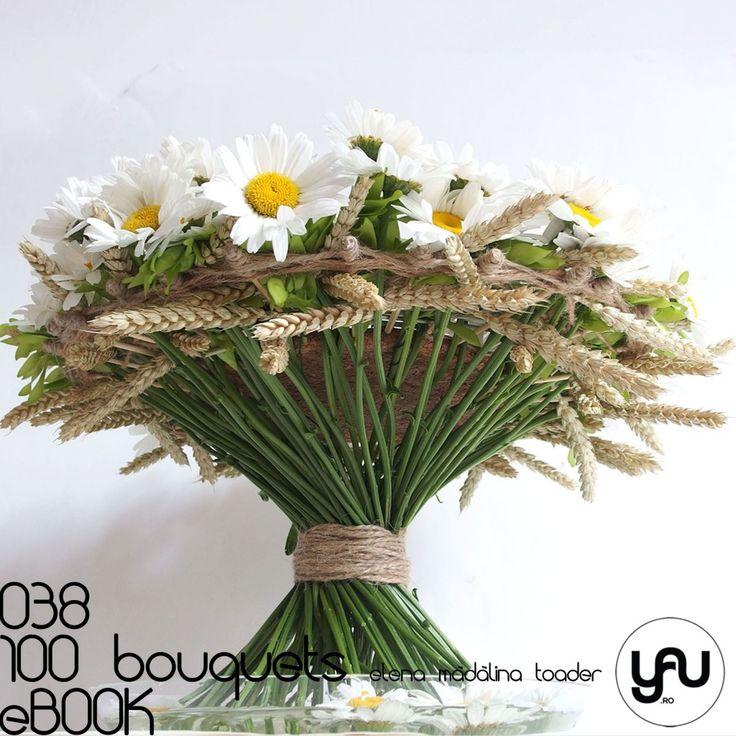 MARGARETE #100bouquets #ebook #yauconcept #elenamadalinatoader #wedding #bridal #weddingbouquet #bouquet #floralart #floraldesign #artfloral #florist #designer #pinterestwedding #daisies #daisy #cork #modern #modernwedding #wheat