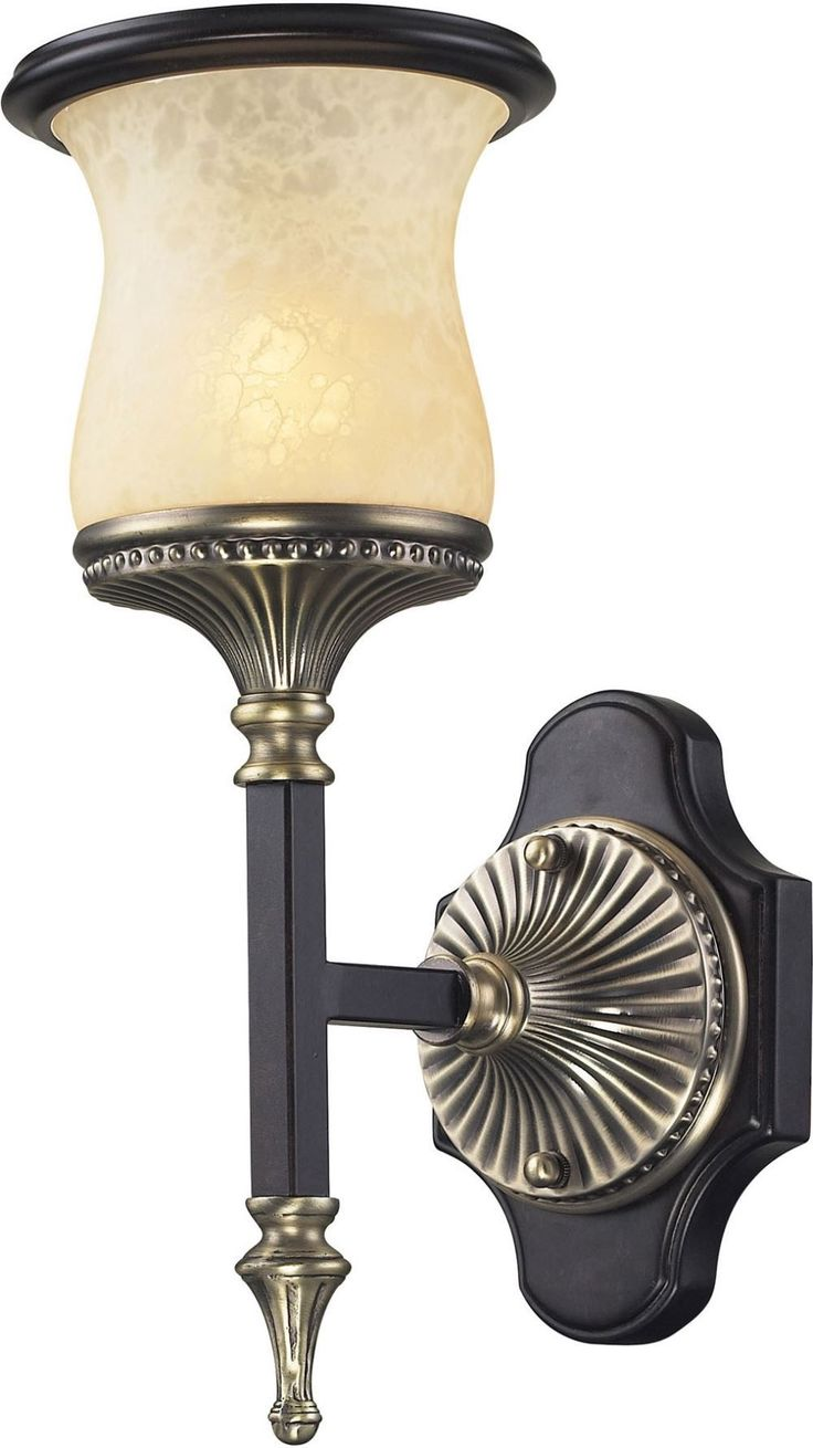 Georgian Court 1 Light Wall Sonce In Antique Bronze and Dark Umber
