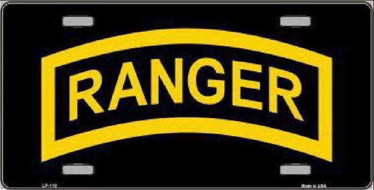 Army Ranger  Car Truck Tag License Plate