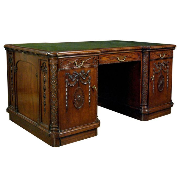A Fine English Mahogany Partners Desk In The Adams Manner | Partners Desk,  Furniture Storage And Manners