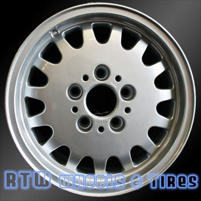 """BMW 318i wheels for sale 1993-1999. 15"""" Silver rims 59182 - http://www.rtwwheels.com/store/?post_type=product&p=33066"""