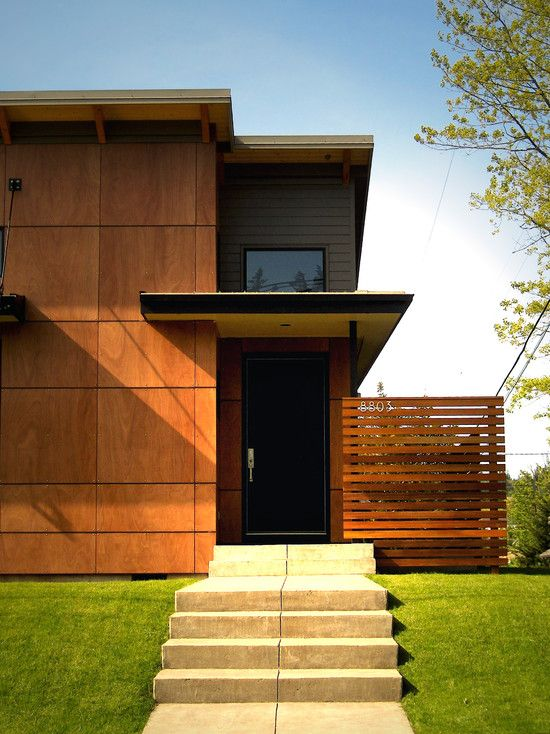 Iktan improvement modern exterior wood panels for Exterior sheathing options