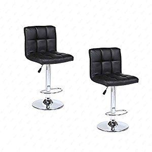 Mordern Leather Adjustable Bar Stools Swivel Pub Chair (Set Of 2) #Home #Kitchen #Furniture #Bar #Barstools