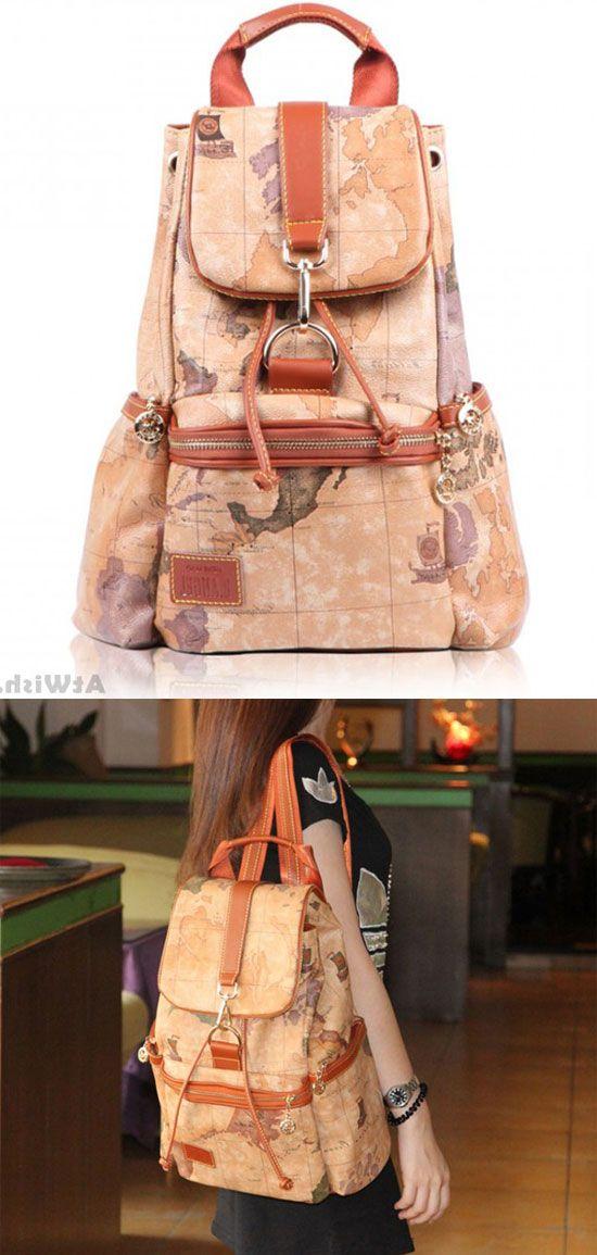 Retro Leisure World Map Backpacks Only 45 99 Fashion Backpacks