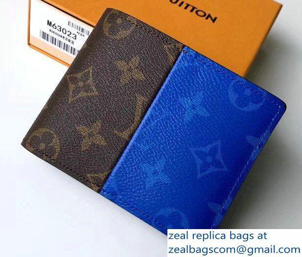 c40129046ae Louis Vuitton Monogram Pacific Blue Split Multiple Wallet M63023 ...