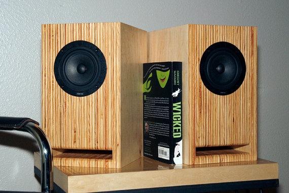 Layered Maple Plywood Speakers  Handmade Full by SteeltreeWorks, $375.00