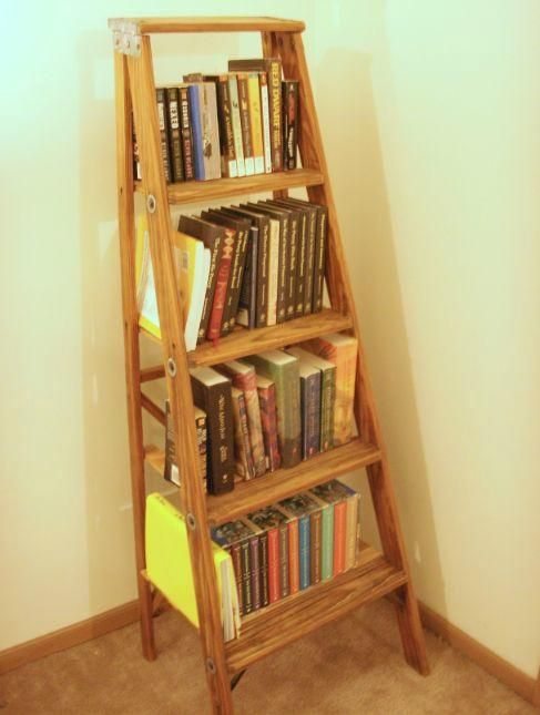 Diy back to school : DIY Ladder Bookshelf