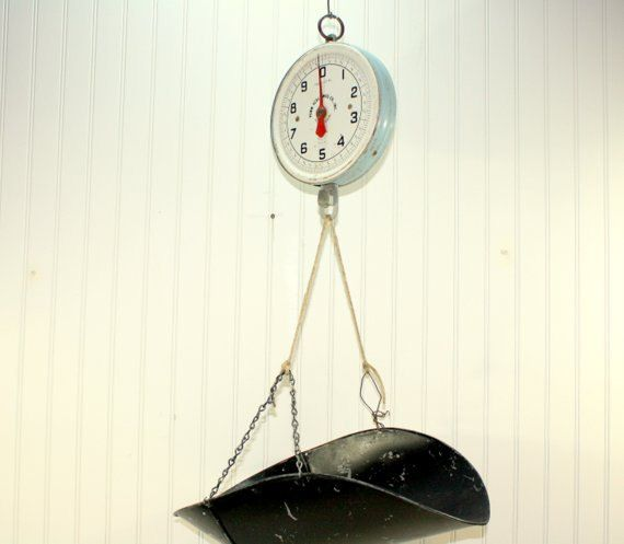Vintage Hanging Scale / Kitchen Scale / Industrial By HuntandFound